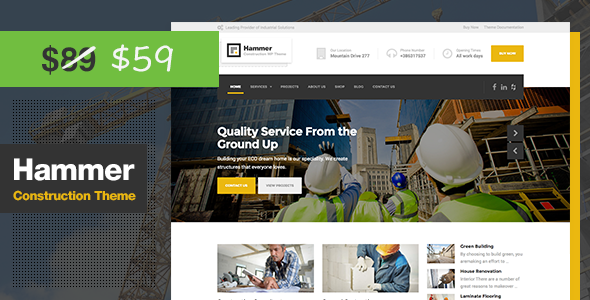 Hammer - Construction WordPress Theme