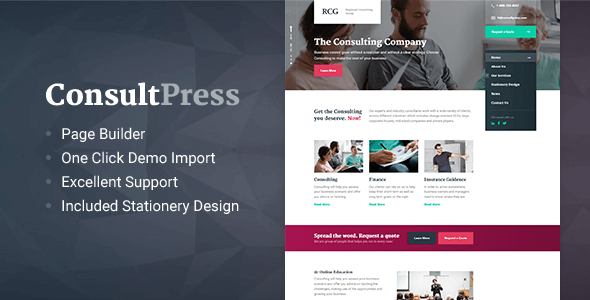 ConsultPress – WordPress Theme for Consulting and Financial Businesses Free Download