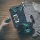 Vintage Camera in Hand. Sport Clothes and Gadgets, Top View - VideoHive Item for Sale