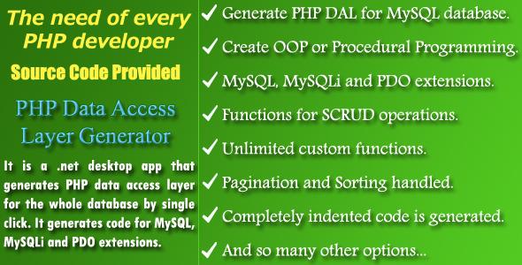 PHP DAL Generator - Source Code