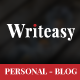 Writeasy - Personal Blog PSD Template - ThemeForest Item for Sale