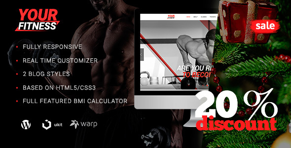 YourFitness — Sport WordPress Theme for Fitness Club or Gym