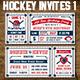 Vector Hockey Invites Print Templates - GraphicRiver Item for Sale