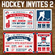 Vector Hockey Invites Print Templates 2 - GraphicRiver Item for Sale