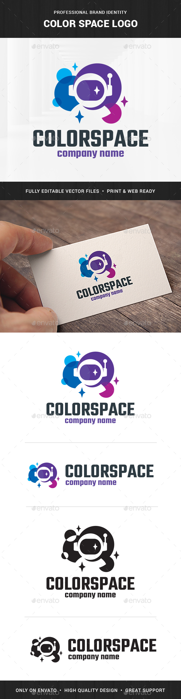 Color Space Logo Template