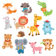Cute Animal Characters Collection - GraphicRiver Item for Sale