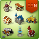 Isometric Game Icons - Medieval Buildings Set - GraphicRiver Item for Sale