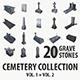 Gravestone collection vol. 1 + vol. 2 - 3DOcean Item for Sale