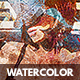 Artistic Watercolor Photo Template - GraphicRiver Item for Sale
