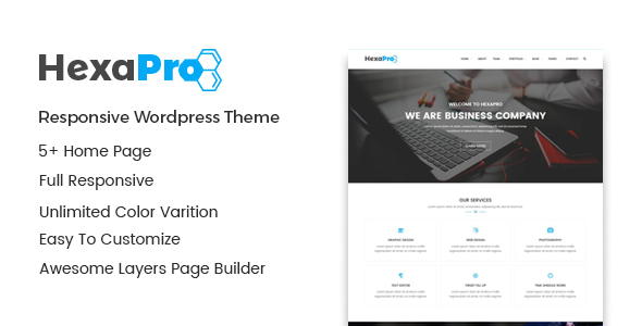 Hexapro – Corporate WordPress Theme