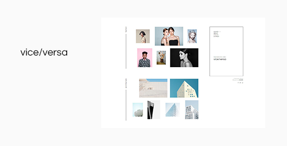 Viceversa - Minimal Photography and Portfolio WordPress Theme