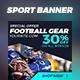 21 Sport Banner Ads - GraphicRiver Item for Sale