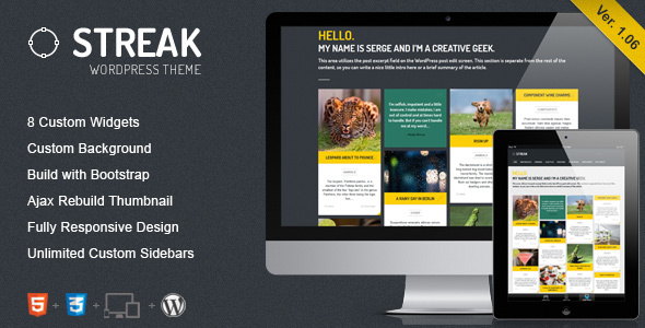 Streak - Responsive WordPress Blog / Portfolio