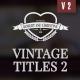 Vintage Romantic Wedding Titles Pack 2 - VideoHive Item for Sale