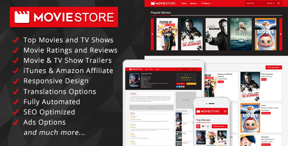 MovieStore - Movies and TV Shows Affiliate Script Download