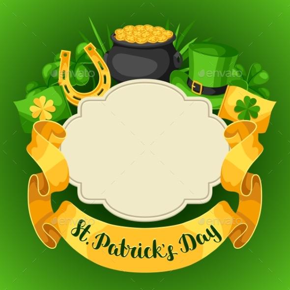 Saint Patricks Day Greeting Card.