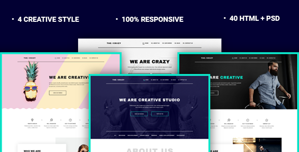 The Crazy - Creative Agency HTML5 Template