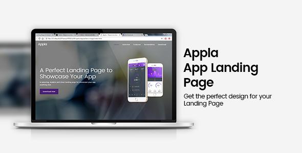 Appla Responsive App Landing Page