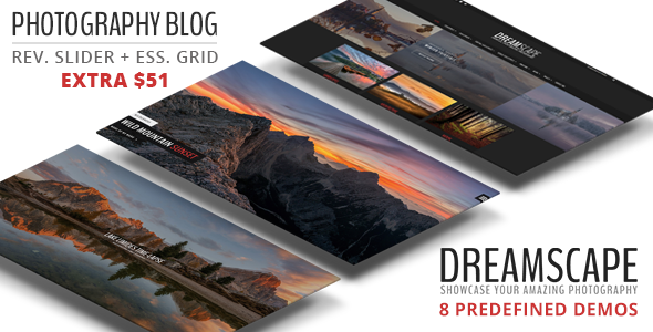 Dreamscape - A Responsive WordPress Photography Blog Theme