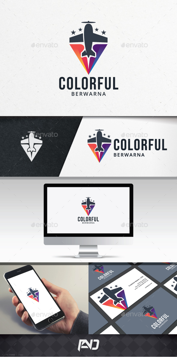 Colorful Flight Logo Template