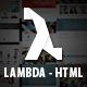 Lambda - Multi Purpose Bootstrap HTML Template - ThemeForest Item for Sale