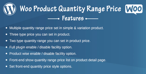 Woo Product Quantity Range Price Download