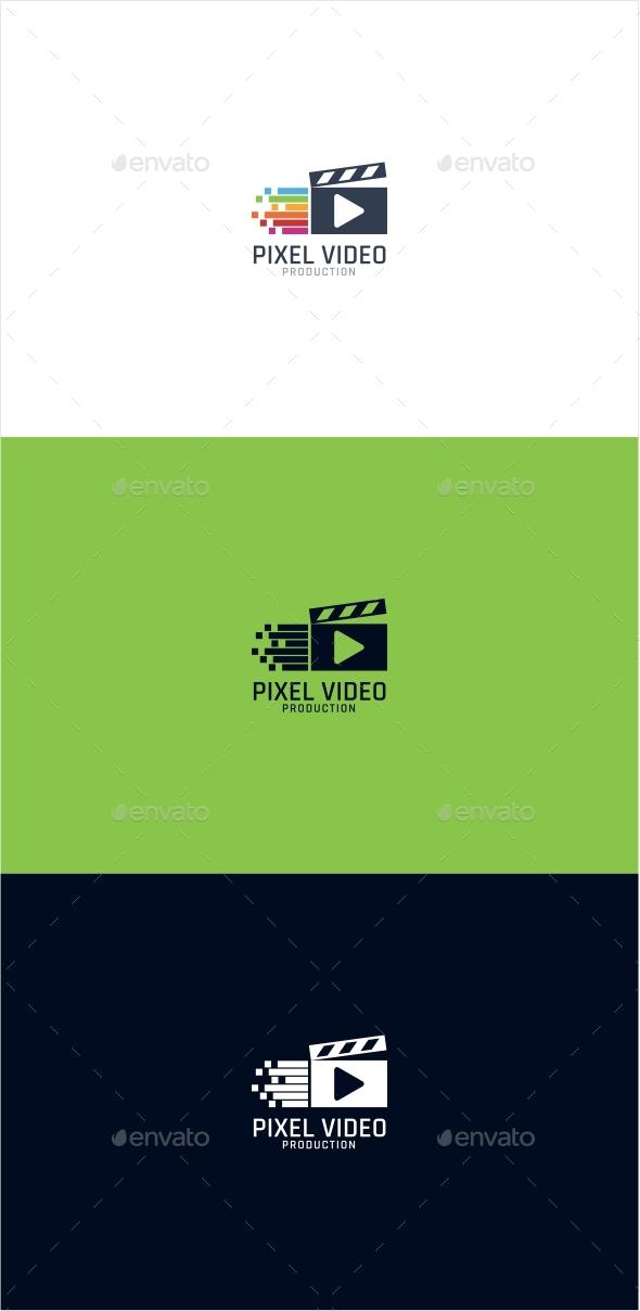 Pixel Video Logo
