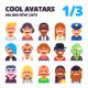 Set of Avatars 1/3 - GraphicRiver Item for Sale