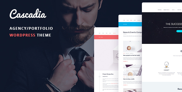 Cascadia - Agency/Portfolio WordPress Theme