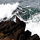 Ocean Waves Coming Into Lava Rock Shore - VideoHive Item for Sale