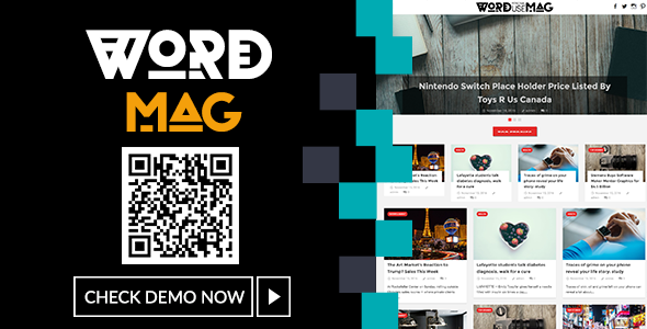 WordMag - Clean News/Magazine Blog