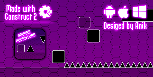 Square Adventure - HTML5 Game (CAPX)