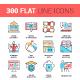 300 Flat Line Icons Bundle - GraphicRiver Item for Sale