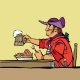 Brave Pirate Eating in the Tavern - GraphicRiver Item for Sale