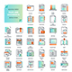 Files and Documents Flat Line Icons - GraphicRiver Item for Sale