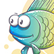 Drawn Cartoon Fish - GraphicRiver Item for Sale