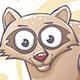 Drawn Cartoon Raccoon - GraphicRiver Item for Sale