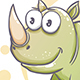 Drawn Cartoon Rhino - GraphicRiver Item for Sale