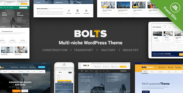 Bolts - WordPress Theme for Construction, Transport and similar Business