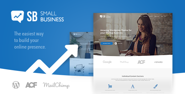 Small Business CD - Modern Blog & Website WordPress Theme for Start Up ideas