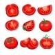 Tomato Sliced Set - GraphicRiver Item for Sale