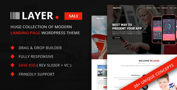 Layer -  SaaS & Startup Landing Page WordPress Theme