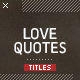 Love Quotes - VideoHive Item for Sale