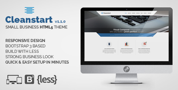 Small Business HTML Theme - CLEANSTART