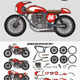 Caferacer Bike Pack - GraphicRiver Item for Sale