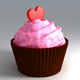 Valentine CupCake - 3DOcean Item for Sale