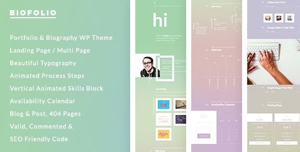 BioFolio - Biography, Resume & Portfolio WordPress Theme
