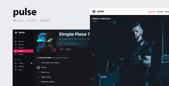 pulse - Music, Audio, Radio WordPress Theme
