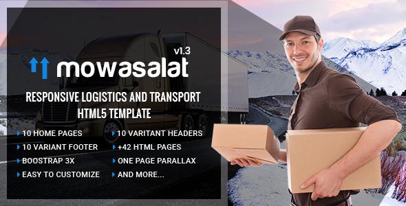Mowasalat   Responsive Logistics and Transport HTML5