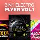 3 in 1 - Electro Flyer V.1 - GraphicRiver Item for Sale